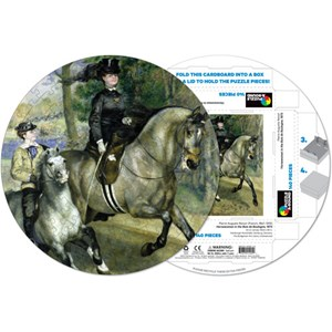 "Pigment Hue (RRENR-41205) - Pierre-Auguste Renoir: ""Woman riding horse"" - 140 pieces puzzle"