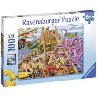 "Ravensburger (10939) - ""Pirate Boat Adventure"" - 100 pieces puzzle"
