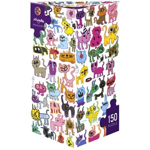 "Heye (70169-29482) - Jon Burgerman: ""Scribbled Cats"" - 150 pieces puzzle"