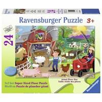 """Ravensburger (05285) - Karen Rossi: """"Farm Mania"""" - 24 pieces puzzle"""