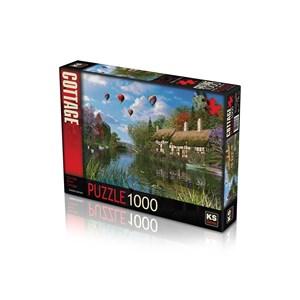 """KS Games (11272) - Dominic Davison: """"Old River Cottage"""" - 1000 pieces puzzle"""