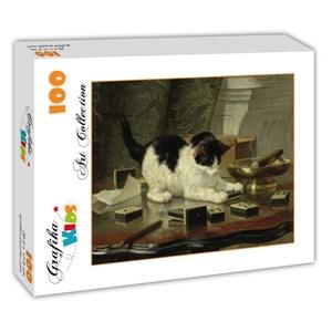 "Grafika Kids (00282) - Henriette Ronner-Knip: ""Kitten's Game"" - 100 pieces puzzle"