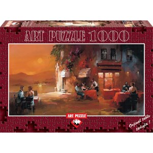 """Art Puzzle (4316) - Willem Haenraets: """"Dinner for Two"""" - 1000 pieces puzzle"""