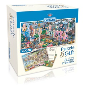 """Gibsons (G2601) - Mike Jupp: """"Puzzle and Postcards"""" - 200 pieces puzzle"""