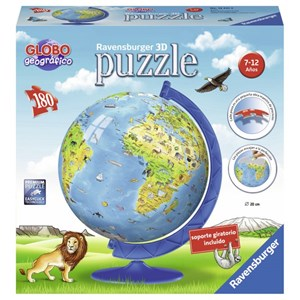 """Ravensburger (12341) - """"World Map in Spanish"""" - 180 pieces puzzle"""