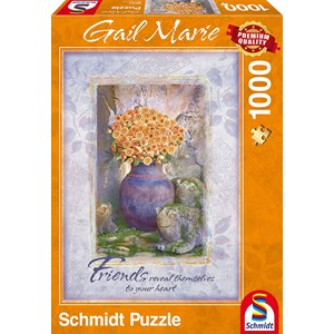 """Schmidt Spiele (59391) - Gail Marie: """"Friends"""" - 1000 pieces puzzle"""