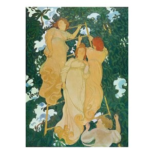 """Puzzle Michele Wilson (A235-250) - Maurice Denis: """"Ladder in the leaves"""" - 250 pieces puzzle"""