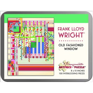 "Pomegranate (AA759) - Frank Lloyd Wright: ""Old Fashioned Window"" - 100 pieces puzzle"