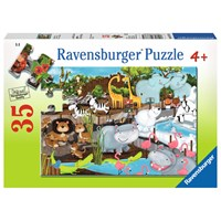 "Ravensburger (08778) - ""Day at the Zoo"" - 35 pieces puzzle"