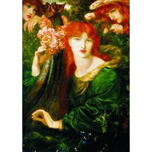 "Gold Puzzle (60584) - Dante Gabriel Rossetti: ""La Ghirlandata"" - 1000 pieces puzzle"