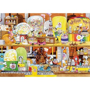 """Puzzle Michele Wilson (W114-100) - Laure Cacouault: """"Sweet Factory"""" - 100 pieces puzzle"""