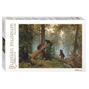 """Step Puzzle (79218) - Ivan Shishkin: """"Morning in a Pine Forest"""" - 1000 pieces puzzle"""