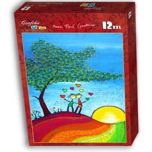 """Grafika Kids (01719) - Anne Poire, Patrick Guallino: """"Signes et Sillons de Bonheur"""" - 12 pieces puzzle"""