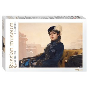 "Step Puzzle (79215) - Ivan Kramskoi: ""Unknown"" - 1000 pieces puzzle"
