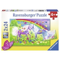 "Ravensburger (09193) - ""Rainbow Horses"" - 24 pieces puzzle"