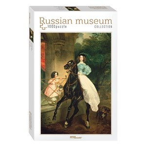 "Step Puzzle (79212) - Karl Bryullov: ""Horsewoman"" - 1000 pieces puzzle"