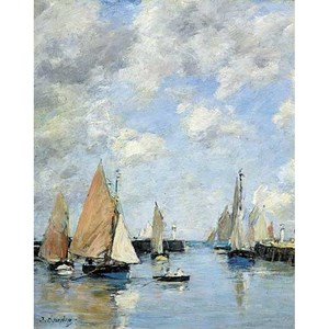 "Puzzle Michele Wilson (A506-250) - Eugène Boudin: ""The Jetty at High Tide"" - 250 pieces puzzle"