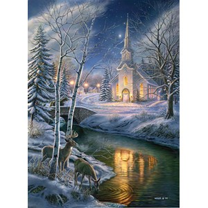 """SunsOut (28422) - James Meger: """"O Holy Night"""" - 1500 pieces puzzle"""