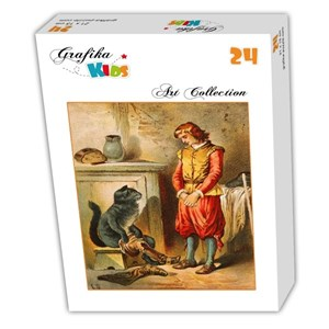"""Grafika (00108) - Carl Offterdinger: """"Puss in Boots"""" - 24 pieces puzzle"""