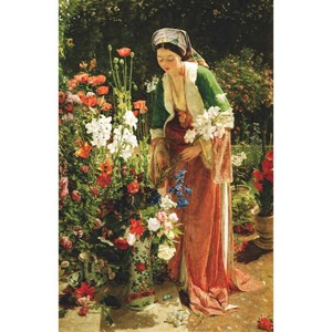 """Puzzle Michele Wilson (A204-350) - John Frederick Lewis: """"In the Bey's Garden"""" - 350 pieces puzzle"""