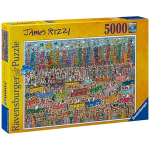"Ravensburger (17427) - James Rizzi: ""Nothing is as Pretty as a Rizzi City"" - 5000 pieces puzzle"