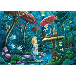 """Puzzle Michele Wilson (W443-100) - Florence Magnin: """"Alice in Wonderland"""" - 100 pieces puzzle"""