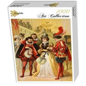 "Grafika (00735) - Carl Offterdinger: ""Cinderella, illustration"" - 1000 pieces puzzle"