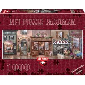 """Art Puzzle (4420) - James Lee: """"Cafe Walk I"""" - 1000 pieces puzzle"""