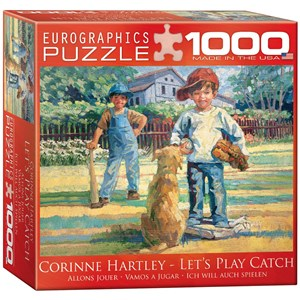 """Eurographics (8000-0452) - Corinne Hartley: """"Let's Play Catch"""" - 1000 pieces puzzle"""