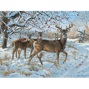 """Cobble Hill (52083) - Persis Clayton Weirs: """"Winter Deer"""" - 500 pieces puzzle"""