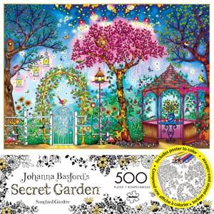 """Buffalo Games (3843) - Johanna Basford: """"Songbird Garden"""" - 500 pieces puzzle"""