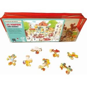 """Puzzle Michele Wilson (W113-50) - Laure Cacouault: """"The Firemen"""" - 50 pieces puzzle"""