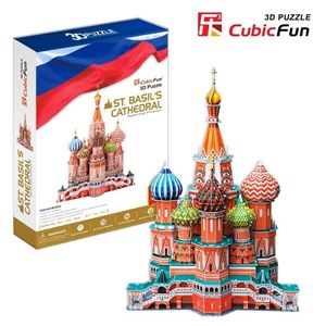 """Cubic Fun (MC093H) - Fredric Church: """"Saint Basil the Blessed Cathedral of Moscow"""" - 214 pieces puzzle"""