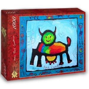 """Grafika (02467) - Anne Poire, Patrick Guallino: """"Vache Radieusement Arc-en-ciel"""" - 1000 pieces puzzle"""