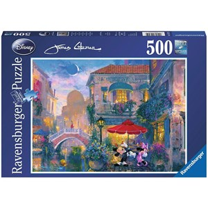 """Ravensburger (14725) - James Coleman: """"Mickey in Venice"""" - 500 pieces puzzle"""