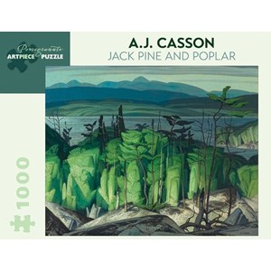 """Pomegranate (AA849) - A.J. Casson: """"Jack Pine And Poplar"""" - 1000 pieces puzzle"""