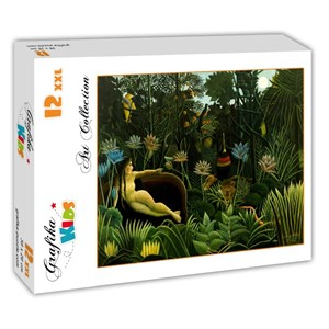 """Grafika (00306) - Henri Rousseau: """"The Dream, 1910"""" - 12 pieces puzzle"""