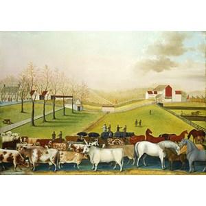 """Grafika (00251) - Edward Hicks: """"The Cornell Farm, 1848"""" - 1000 pieces puzzle"""
