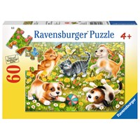 "Ravensburger (09624) - ""Cats & Dogs"" - 60 pieces puzzle"