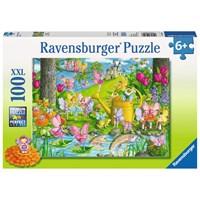 "Ravensburger (10602) - ""Fairy Playland"" - 100 pieces puzzle"