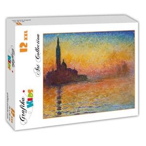 """Grafika (00095) - Claude Monet: """"Saint-Georges-Majeur au Crépuscule, 1908"""" - 12 pieces puzzle"""