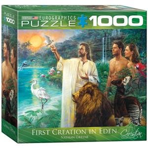 """Eurographics (8000-0356) - Nathan Greene: """"First Creation in Eden"""" - 1000 pieces puzzle"""