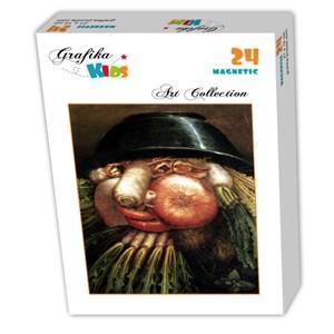 "Grafika Kids (00215) - Giuseppe Arcimboldo: ""The Greengrocer"" - 24 pieces puzzle"