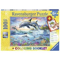 """Ravensburger (13697) - """"Colorful Underwater World + Coloring Booklet"""" - 100 pieces puzzle"""