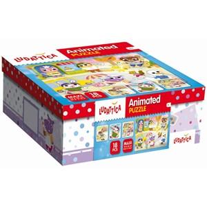 """Ludattica (52486) - """"Animated Puzzle"""" - 18 pieces puzzle"""