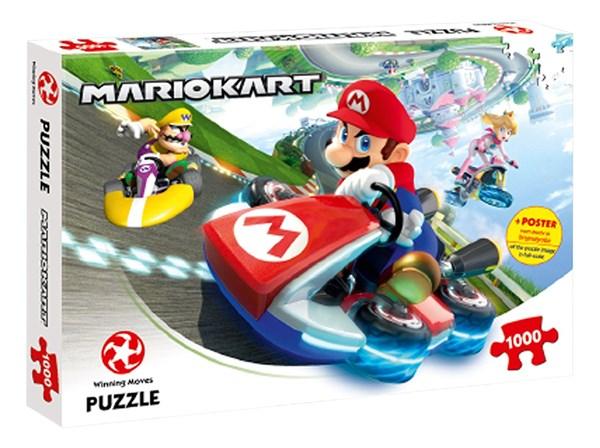"Winning Moves Games (44815) - ""Super Mario, Mario Kart "" - 1000 pieces puzzle"