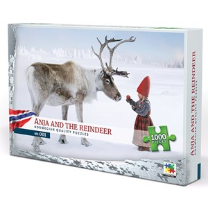 "Vennerod forlag (001) - Per Breiehagen: ""Anja and the Reindeer"" - 1000 pieces puzzle"