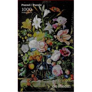"""PuzzelMan (760) - Jan Davidsz de Heem: """"Vase with Flowers"""" - 1000 pieces puzzle"""