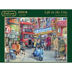 """Jumbo (11090) - Jim Mitchell: """"Life in the City"""" - 1000 pieces puzzle"""