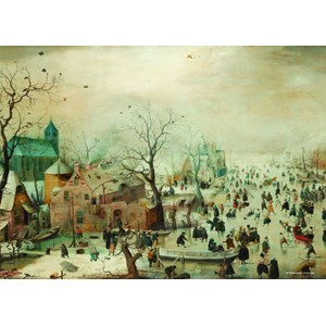 "PuzzelMan (383) - Hendrick Avercamp: ""Winter landscape"" - 1000 pieces puzzle"